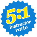 5 to 1 instructor ratio